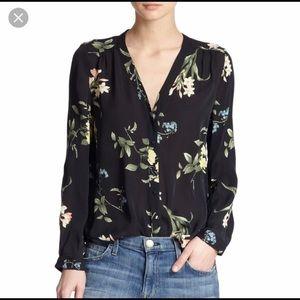 Joie Yvetta Floral Silk Blouse, XS